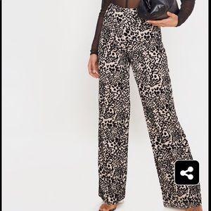BRAND NEW!✨PLT Leopard Wide Leg Pants